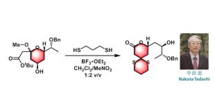 Nakata缩硫酮化-内酯化