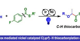 镍-可见光氧化还原协同催化体系实现C(sp3)-H硫代羰基化反应