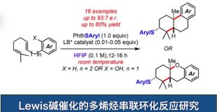 Lewis碱催化的多烯烃串联环化反应研究
