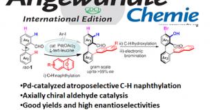 Pd催化的C-H萘基化反应合成轴手性醛催化剂